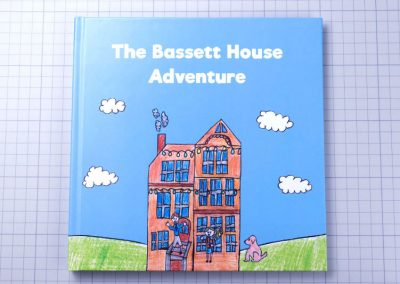 The Bassett House Adventure self published children's book with children drawings