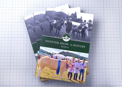 A History of Dunster Show book fan